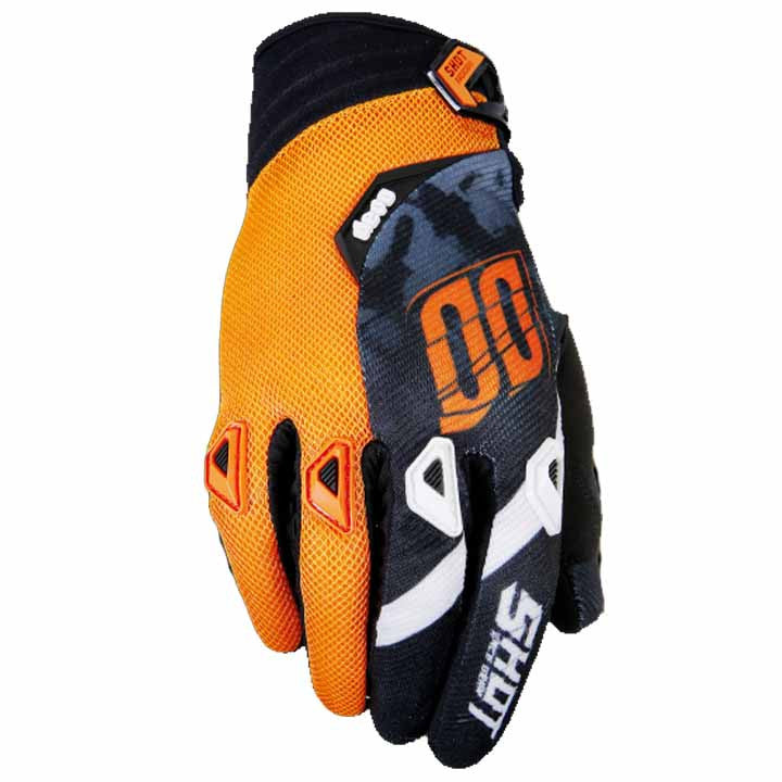 Shot Devo Squad MX Off Road Dirt Bike Motocross Bike Gloves - Orange - Shot -  - MSG BIKE GEAR - 1