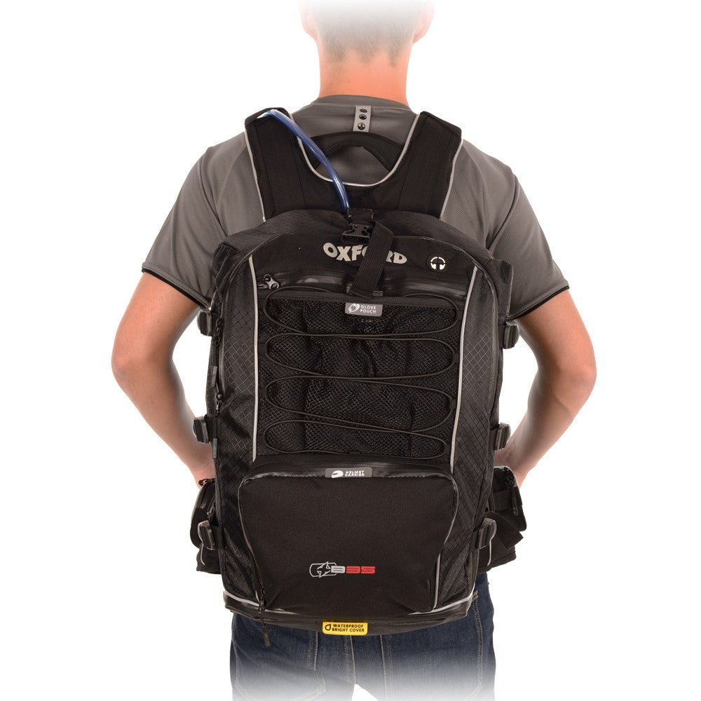 Oxford XB5 Motorcycle RuckSack BackPack W/Proof Cover,WaistPack OL861 -35 Litres - Oxford -  - MSG BIKE GEAR - 1