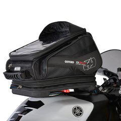 Oxford Q30R Quick Release Motorcycle Tank Bag - Black + Rain Cover - Oxford -  - MSG BIKE GEAR - 1