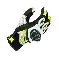 Richa Turbo Summer Mesh Leather/Textile Short Motorcycle Gloves - Yellow - Richa -  - MSG BIKE GEAR - 1