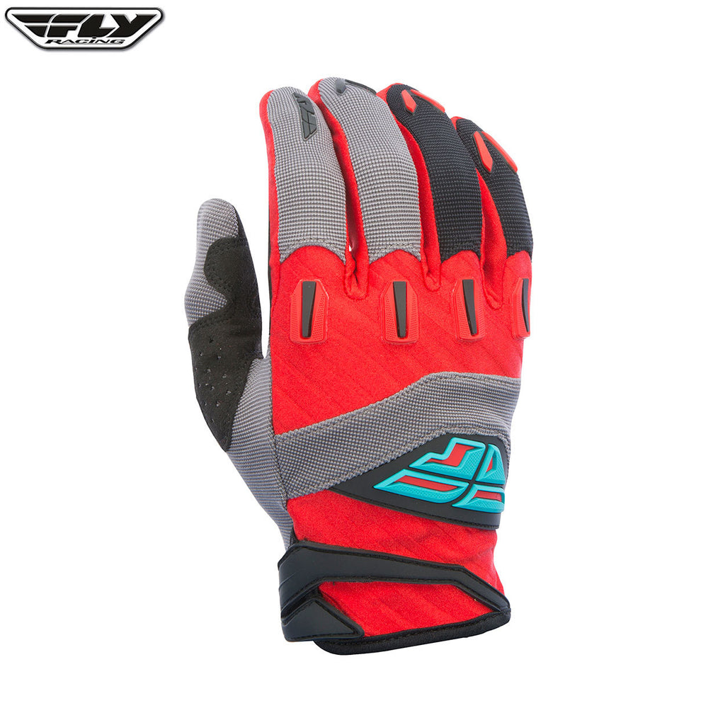 Fly Racing 2017 F-16 Youth MX Gloves - Red / Grey