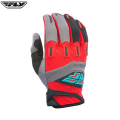 Fly Racing F-16 Adult Motocross Gloves (2017) -  Red / Grey