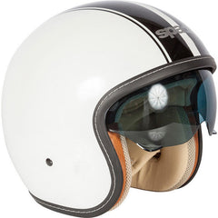 Spada Raze Open Face Helmet - Kromatik Matt White/Black