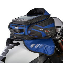 Oxford M30R Magnetic Motorcycle Tank Bag - Blue - 30 Litres + Rain Cover - Oxford -  - MSG BIKE GEAR - 1