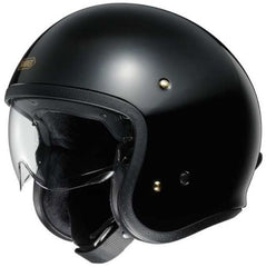 Shoei J.O Open Face Motorcycle Cruiser Scooter Helmet + Visor - Black - Shoei -  - MSG BIKE GEAR