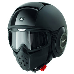 1a662708bc9 Shark Drak Raw Open Face Motorcycle Helmet with Goggles - Dual Black - Shark  -