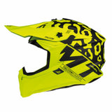 MT Falcon Karson Motocross Helmets - Matt Fluo Yellow