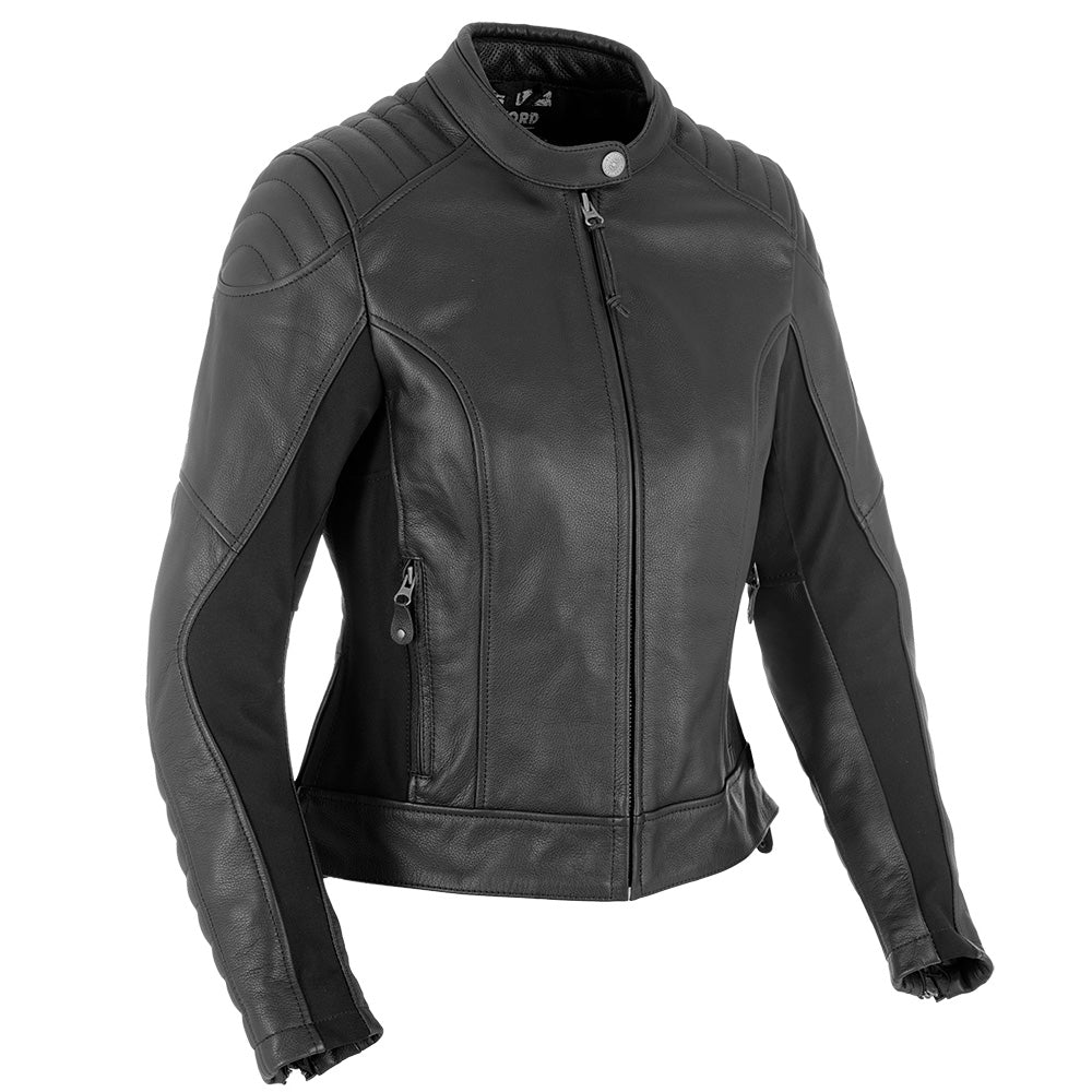 Oxford Beckley Ladies Leather  Jacket - Black