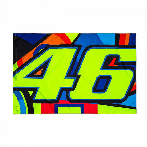 Official VR46 Valentino Rossi Classic Flag -  Sun and Moon Design