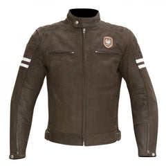 Merlin Hixon Heritage Leather Jacket - Brown