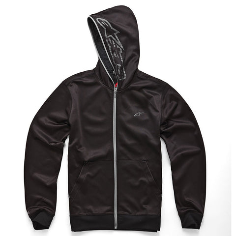 Official Alpinestars Freemont Zip Up Fleece Hoodie Hoody - Black/Charcoal - Alpinestars -  - MSG BIKE GEAR