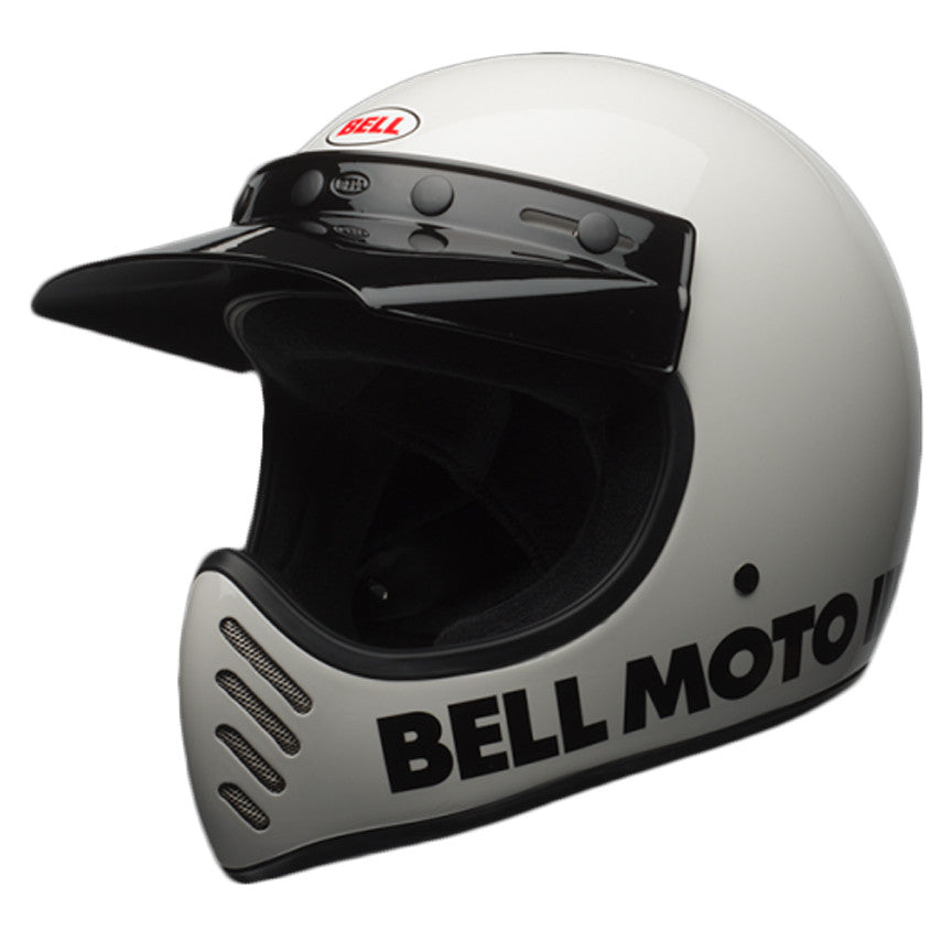 Bell 2017 Moto 3 III Full Face Retro Motorcycle Helmet - Classic White - Bell -  - MSG BIKE GEAR - 1