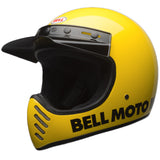 Bell 2017 Moto 3 III Full Face Retro Motorcycle Helmet - Classic Yellow - Bell -  - MSG BIKE GEAR - 1