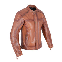 Oxford Hampton Classic Leather Jacket - Bourbon