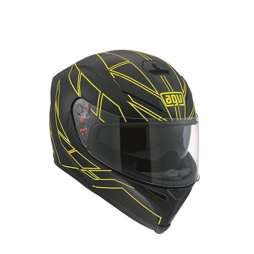 AGV K5-S DVS Sports/Touring Full Face Motorcycle Helmet - Hero Black/Yellow - AGV -  - MSG BIKE GEAR