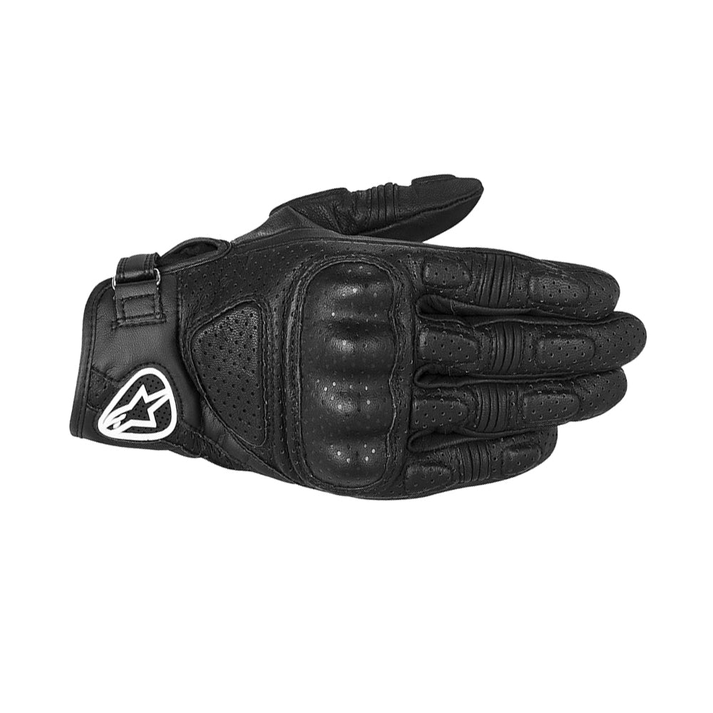 Alpinestars Mustang Leather Waterproof Short Motorcycle Gloves - Black - Alpinestars -  - MSG BIKE GEAR - 1