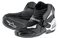Alpinestars SMX 1 R Short Urban Motorbike Motorcycle Boots Black/White - ALPINESTARS -  - MSG BIKE GEAR - 1