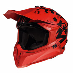 MT Falcon Karson Motocross Helmets - Matt Red