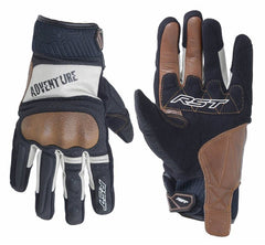 RST 2109 Adventure Leather Gloves - Black/Silver