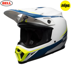 Bell MX 2018 MX-9 MIPS MX Helmet - Torch White / Blue / Yellow