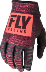 Fly Racing 2019 Youth Kinetic Noiz Motocross Gloves - Red / Black