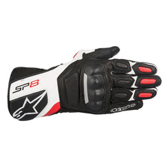 Alpinestars SP-8 V2 Leather Gloves - Black / White / Red