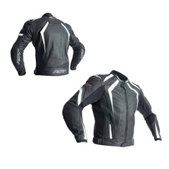 RST 2069 R-18 CE Approved Leather Jacket - White