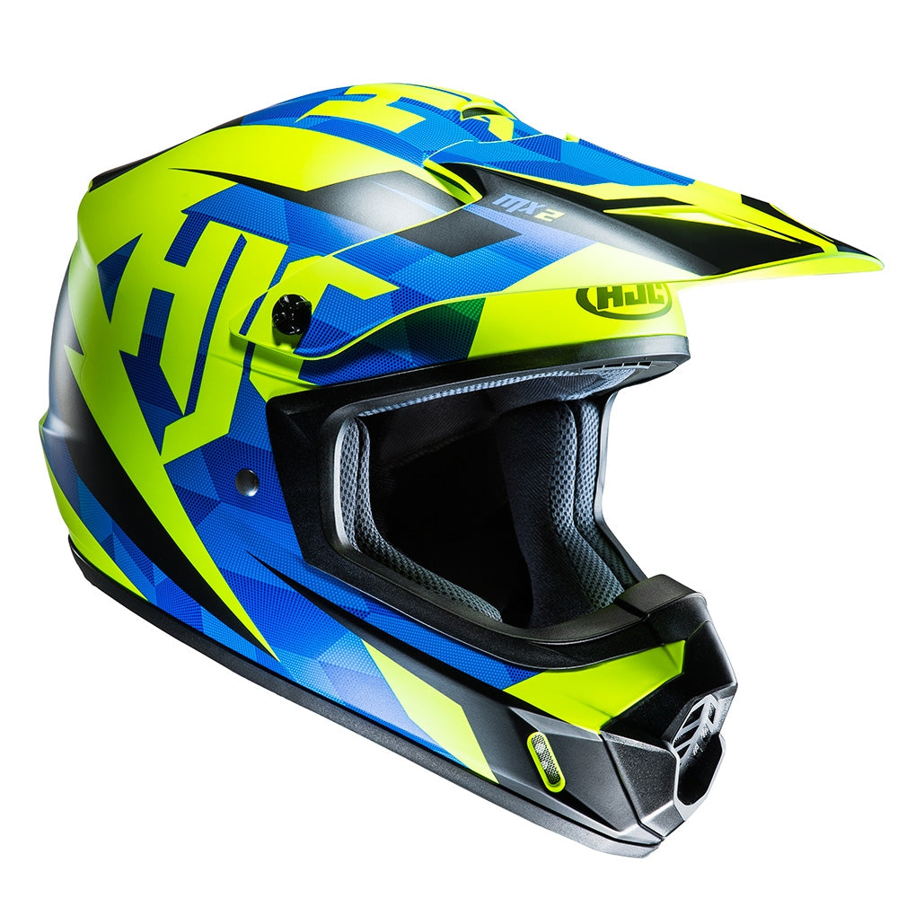 HJC CS-MX II Dakota MX Helmet - Blue/Fluo MC2SF