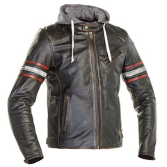 Richa Toulon 2 Leather Motorcycle Jacket - Black / Red