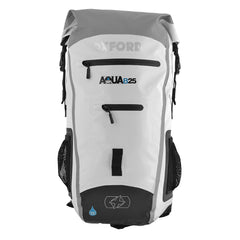 3ce7e64d6e Oxford AQUA B25 Motorcycle Scooter All Weather Waterproof BackPack -  WHITE GREY - Oxford -