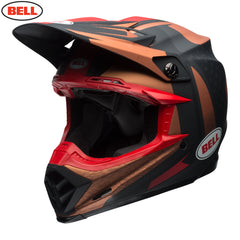 Bell MX 2018 Moto-9 Carbon Flex Helmet - Vice Copper / Black