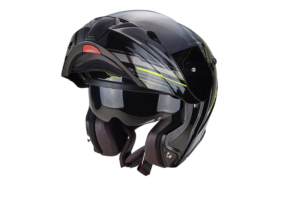Scorpion Exo 920 Flip Front Helmet - Satellite Black/Yellow