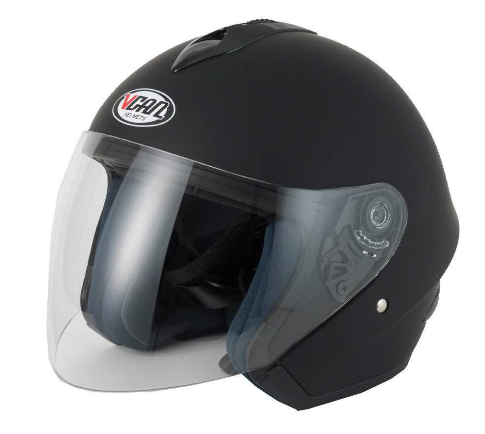 Vcan V510 Open Face Helmet - Matt Black