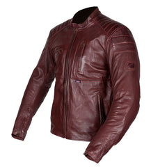 Spada Redux Motorcycle Motorbike Leather Double Stitched Jacket - Oxblood - Spada -  - MSG BIKE GEAR - 1