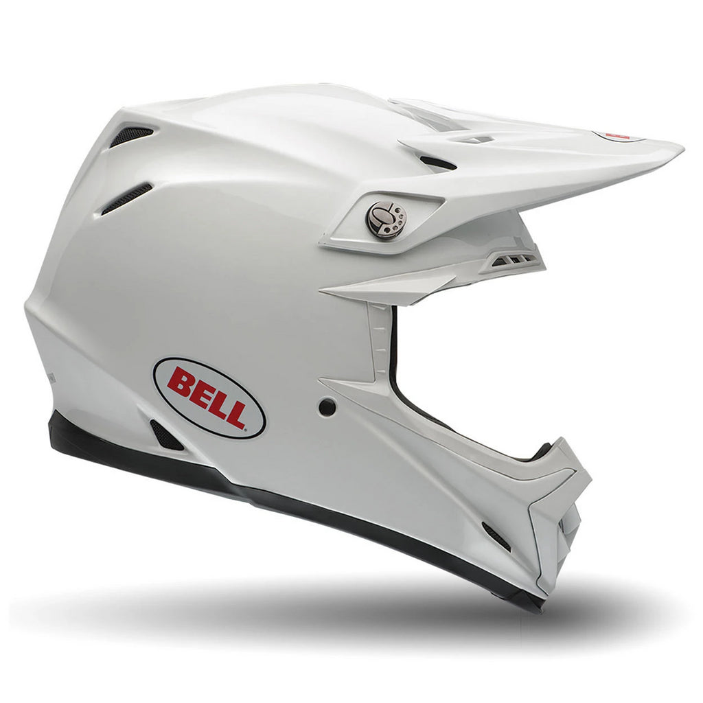 Bell MX Moto-9 Enduro Motocross Helmet (Solid White) - Bell -  - MSG BIKE GEAR