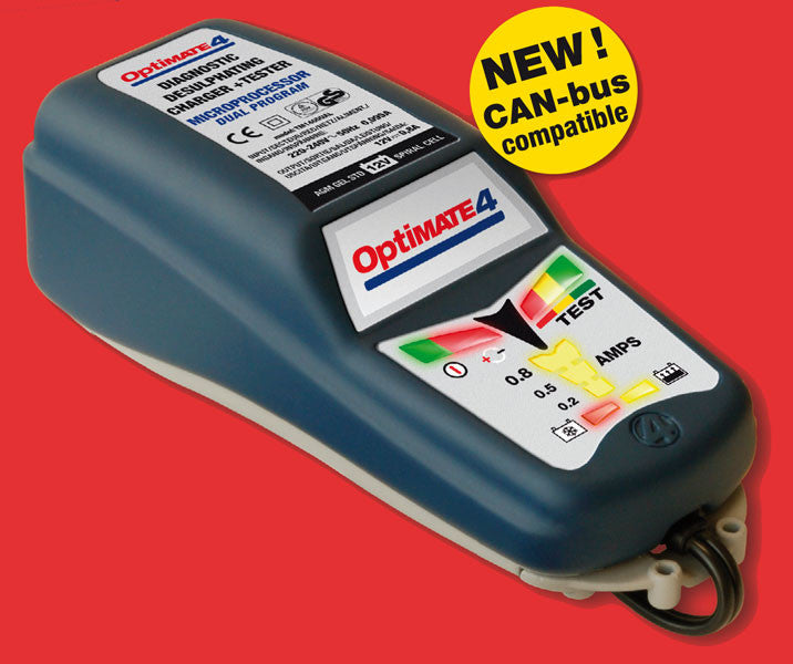 Optimate 4 12V Car Motorcycle Quality Battery Optimiser Charger - Optimate -  - MSG BIKE GEAR