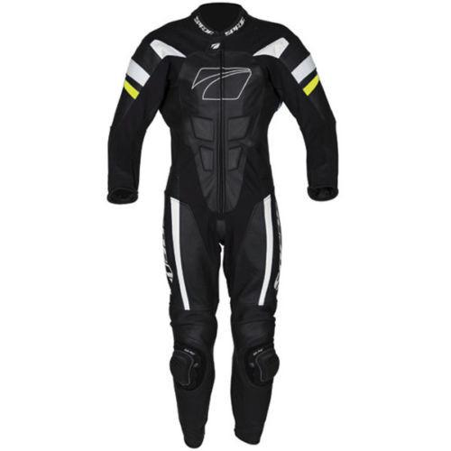 Spada Curve Evo 1 Piece Leather Motorcycle Race Suit - Black/White/Yellow - Spada -  - MSG BIKE GEAR