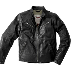 Spidi Garage Classic Leather Jacket - Black