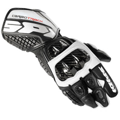 Spidi Carbo Track Leather Sports Gloves - Black / White