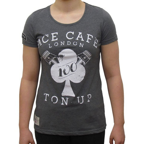 Red Torpedo Primo Ace Cafe Womens Ladies Short Sleeved T-shirt TEE - Red Torpedo -  - MSG BIKE GEAR - 1