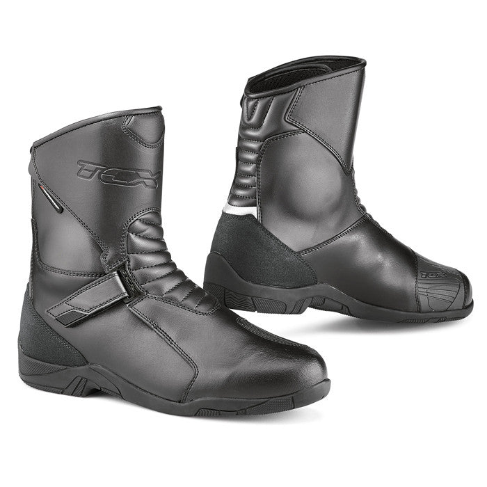 TCX Hub Classic Waterproof Motorbike Motorcycle Touring Boots - Black - TCX -  - MSG BIKE GEAR - 1