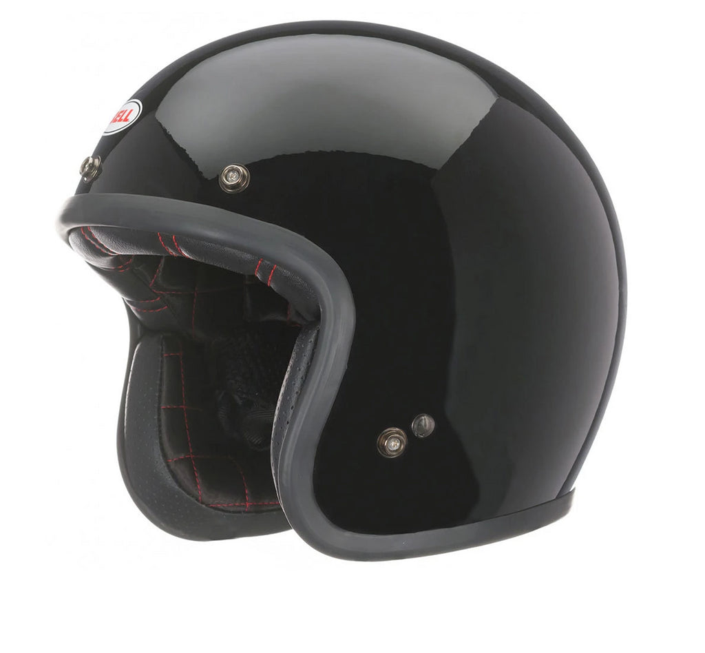 Bell Street Custom 500 Open Face Scooter Motorcycle Helmet (Solid Black) - Bell -  - MSG BIKE GEAR - 1