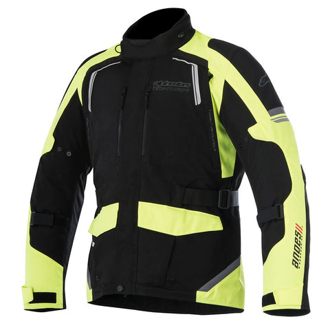 Alpinestars Andes V2 Drystar Waterproof Motorcycle Jacket - Black/Yellow