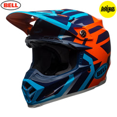Bell MX 2018 Moto-9 MIPS MX Helmet - District Blue / Orange