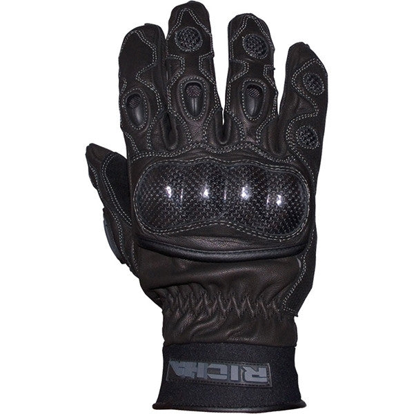 Richa Spark Leather Sports Summer Vented Motorcycle Gloves Black - Richa -  - MSG BIKE GEAR - 1