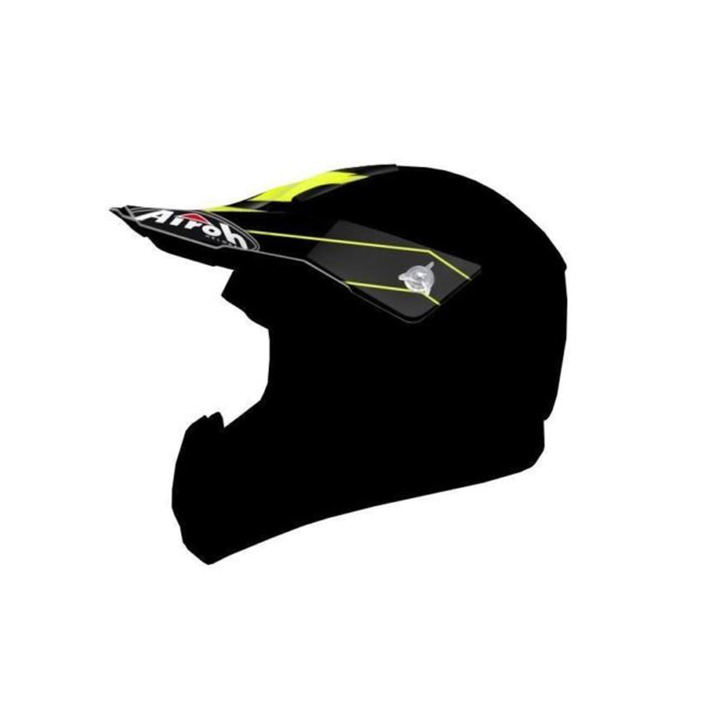 Airoh Switch Replacement MX Helmet Peak - Spacer Yellow