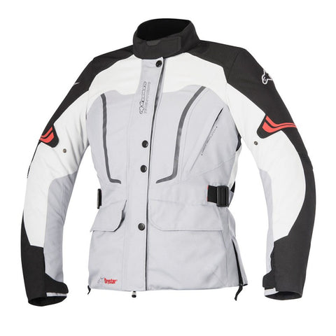 Alpinestars Stella Vence Drystar Ladies Motorcycle Jacket - Grey/Black - Alpinestars -  - MSG BIKE GEAR - 1
