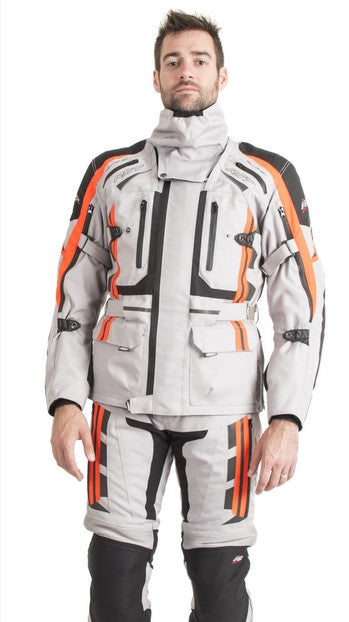 RST PRO SERIES 1416 PARAGON V MENS MOTORCYCLE JACKET SILVER/FLO RED - RST -  - MSG BIKE GEAR - 1