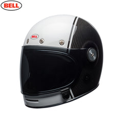 Bell 2018 Bullitt Carbon Helmet - Carbon Pierce Black / White