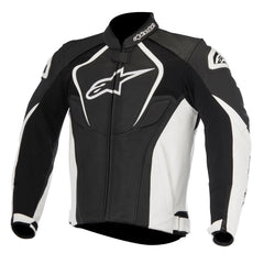 Alpinestars Jaws Leather Sports Racing Motorcycle Jacket - Black/White - Alpinestars -  - MSG BIKE GEAR - 1